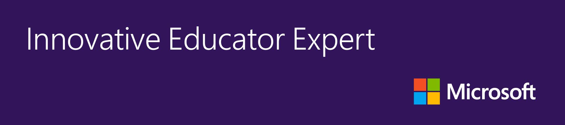 Microsoft Innovative Expert Educator