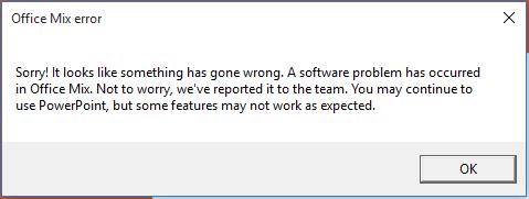 Office Mix probleem opgelost